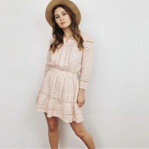 NWT Tularosa Pink Lace Long Sleeve Dress